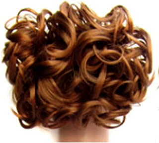 Hairpieces Hairpieces Fashian Hair Bun Extensions Wavy Curly Messy Hair Extensions Donut Hair Chignons Wig Piece for Daily Use and Party (Color : Golden Paulownia)
