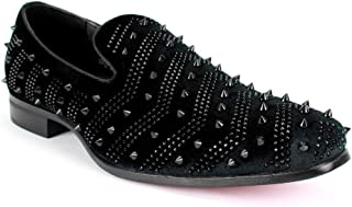 AFTER MIDNIGHT Jovanni AM Exclusive Smoker Shoe Velvet with Spike Studs …