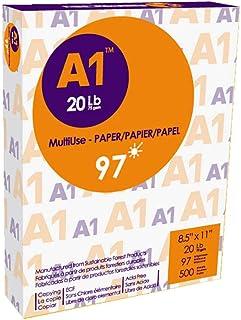 A1 Premier Multipurpose Paper, Copy/Copier/Laserjet Inkjet Printer/Fax/Photocopy Paper, 97 Brightness, 20 lb, Letter Size ...