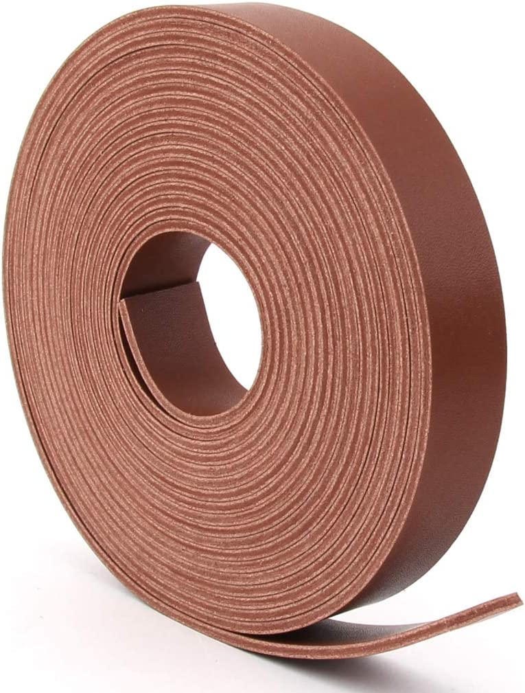 Double Sided Faux Leather Strip Crafts Strap 4 New products world's Superlatite highest quality popular Brown Wide Inch 3
