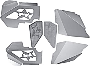 IRONWALLS Front Inner Fender Liners Kit Side Fender Flare Aluminum Silver for Jeep Wrangler JK 2007-2017
