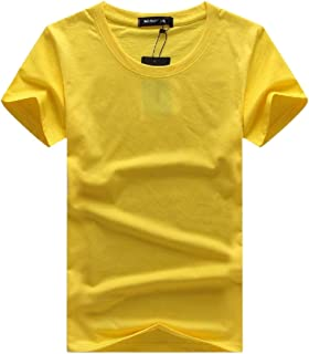 Mens Oversize Pure Colour Vogue Short Sleeves O Neck Tees Top