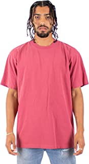 Men's Heavyweight Cotton T Shirt – Max Heavy 7.5 Ounce Short Sleeve Crew Neck Garment Dyed Tee Top Tshirts Regular Big Size