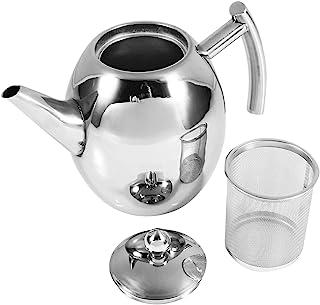 Roestvrijstalen theepot met zetgroep, theepot met infusers voor losse thee koffiepot theeketel voor fornuis Top 1.5L/1L(10...