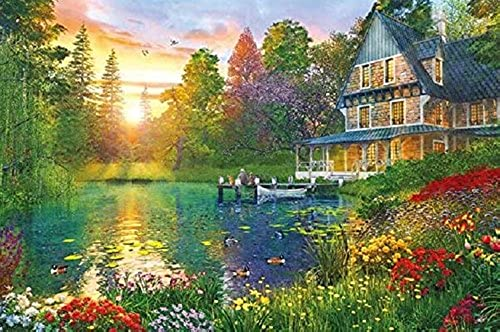 1000 piece jigsaw puzzle Dominique Davison Sunset Cabin (50x75cm)