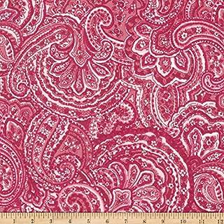 Robert Kaufman Woodside Blossom Paisley Fabric, Rose, Fabric By The Yard