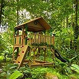 Spielturm axi Simba Holz mit Sandkasten und Rutsche grün