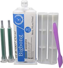 Bigbong Epoxy Adhesive Adhension A:B 1:1 Resin Glue Epoxy 50ml Transparent Glass Metal Ceramics Plastic Wood Bonding Strong Adhesive 2 Part Epoxy Resin Glue Curing Time 5-30 Minutes with Mixed Mouth