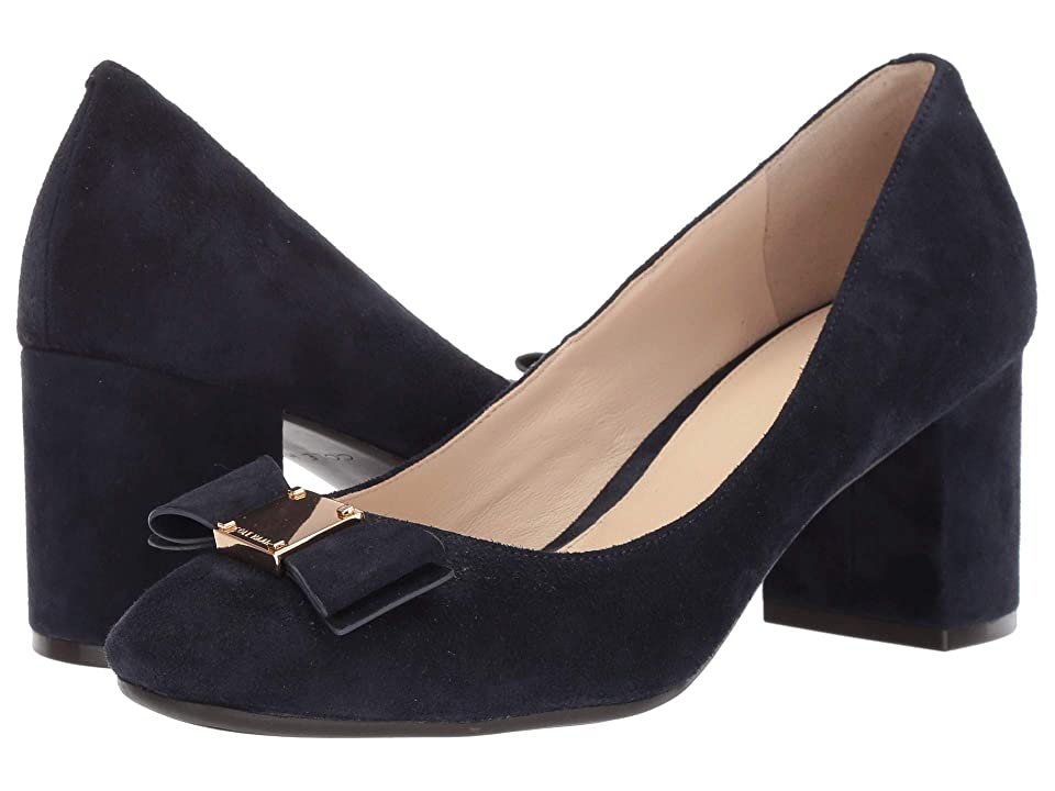 Cole Haan 65 mm G.OS Tali Bow Pump (Marine Blue Suede) Women