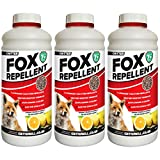Critter Fox Repellent | Long Lasting Protection | Professional Strength | Weather Resistant (3 x 650g)