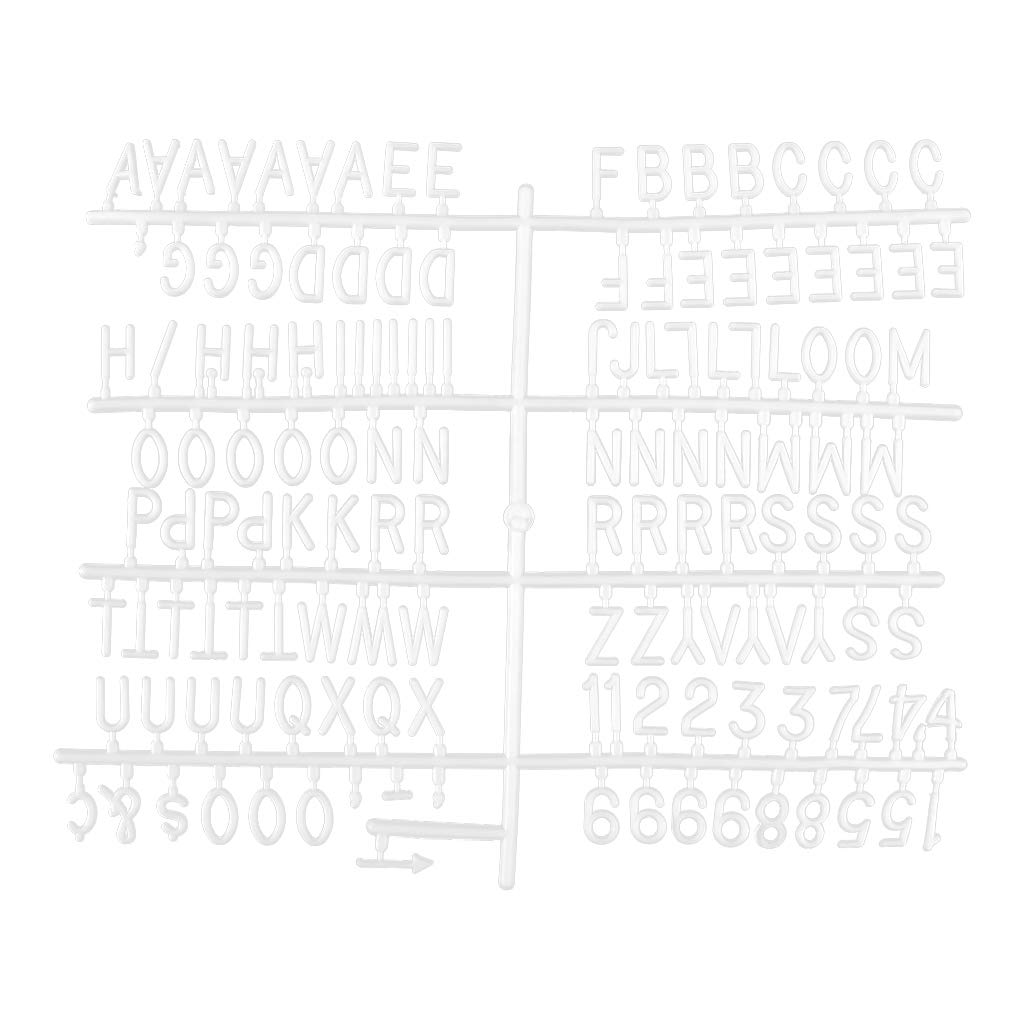 Numbers Navaris 1 Inch Extra Letter Set Symbols for Changeable Felt Letter Board with Canvas Bag 151 Pieces Plastic Shiny Silver Alphabet Letters