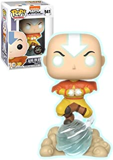 Funko Pop! Avatar The Last Airbender Aang on Airscooter Glow in The Dark GITD Chase Special Edition Sticker Figure ** FUNK...
