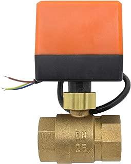 Valvula motorizada 2 vias electrovalvula motorizada 220v normalmente cerrado 1/2 3/4 1 1-1/4 1-1/2 2 pulgada (1 pulgada DN25)