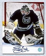 SEAN BURKE Hartford Whalers SIGNED 8x10 Goalie Photo - Autographed NHL Photos