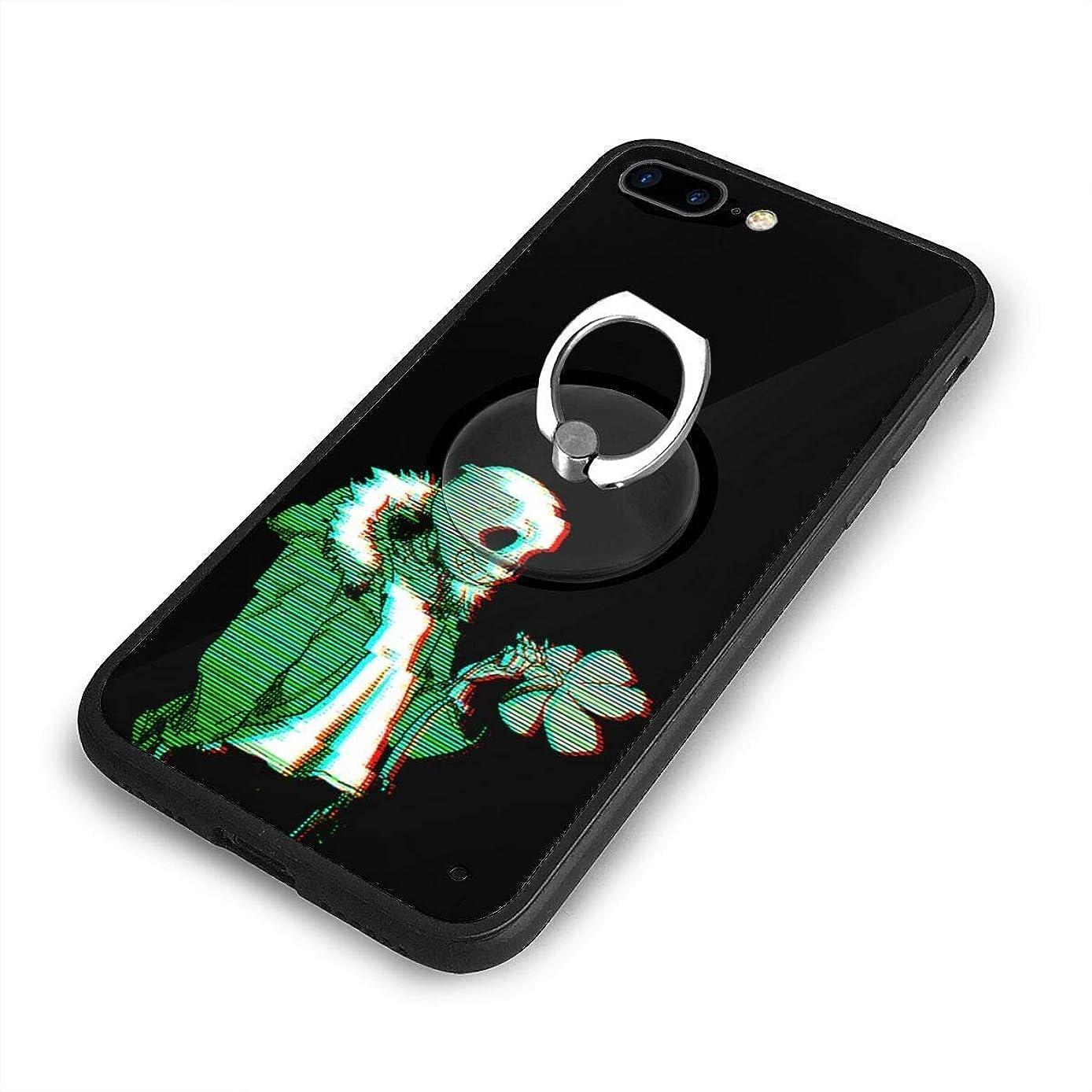 ヒント蜜餌Undertale Sansはあなたを望んでいますかiPhone 7/8 Plusケースリングブラケット 携帯カバー 創意デザイン軽量 傷つけ防止 360°回転ブラケット 携帯ケース PC 衝撃防止 全面保護