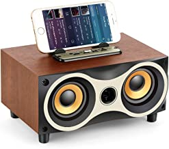 TAMPROAD Desktop Wooden Wireless Bluetooth Portable Speaker with HD Sound and Bass Support Mobile Phone Stand, USB, TF Car... photo