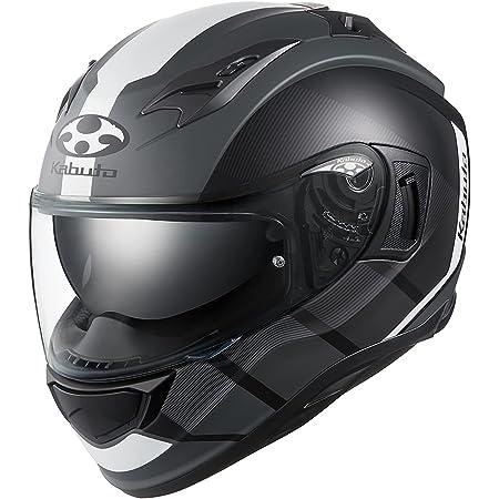 オージーケーカブト(OGK KABUTO)バイクヘルメット フルフェイス KAMUI3 JM(ジェーエム) フラットブラックホワイト (サイズ:XL)