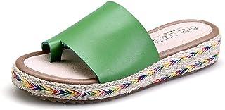 Douche antislip huissandalen,Damesschoenen met platte hak, grote maten, sandalen met platte neus-green_37,Ultra Comfort Sl...