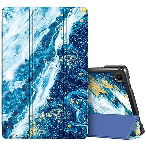 Funda delgada para Samsung Galaxy Tab A7 10.4 pulgadas 2020 modelo (SM-T500/T505/T507), ultra ligera cubierta protectora de triple función atril con encendido y apagado automático, color negro