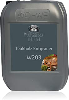 Teakholz Entgrauer Holzpflege Holz Reiniger Hartholzreiniger W203-5L