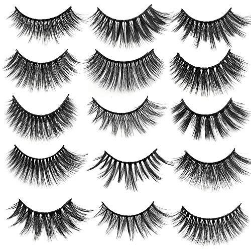 14 Paare 3D Falsche Wimpern, Künstliche Wimpern Zur Verlängerung Der Make-up-Wimpern 15#