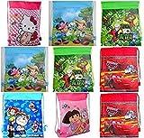 Royals Multicolour Printed Kids Haversack Bags Pack of 12