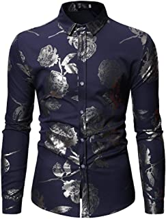 4ff34a59fb228 iHENGH Top Homme, Mode Peinture Manches Longues Homme Grande Taille Casual  Top Blouse Chemises,