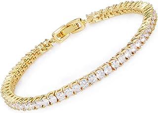 MEETYOO Tennis Bracelet with Swarovski Elements Crystal...