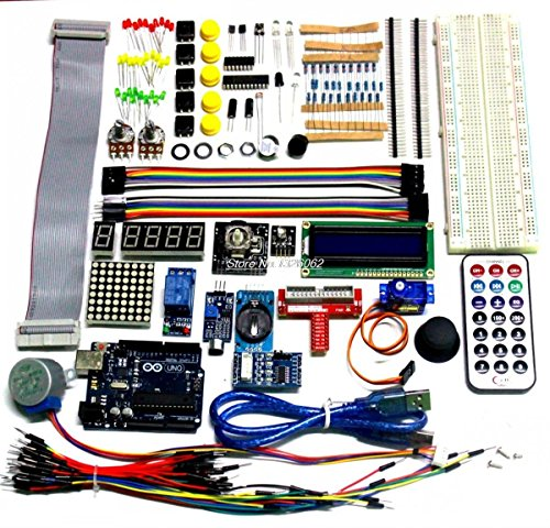 QX Electronics 2015 Best Price Ultimate Starter Kit for Arduino 1602 LCD Servo Motor LED Relay RTC