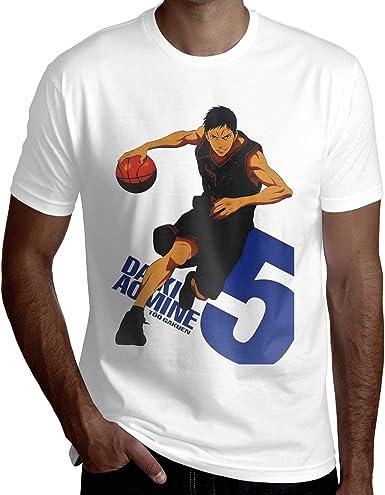 EricDCarl Kuroko's Basketball Daiki Aomine Short Sleeve T Shirt Men's Summer Cotton Crew Neck Tee Sports Clothes