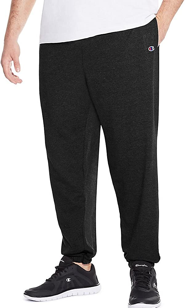 Champion Men's Big Big & Tall Closed Bottom Jersey Pant
