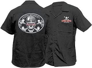 Designs Spiked Helmet Skull Work Shirt , Size: 2XL, Primary Color: Black, Distinct Name: Black, Gender: Mens/Unisex