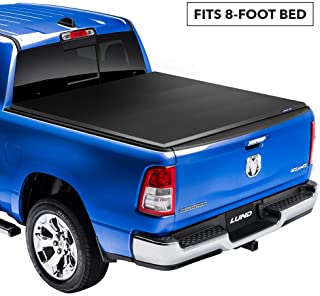 Lund Genesis Elite Tri-Fold Soft Folding Truck Bed Tonneau Cover | 95863 | Fits 2003-18, 19/20 Classic Dodge Ram 1500 8' Bed