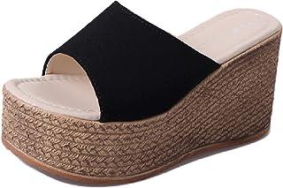 [ココマリ] 軽量 厚底 サンダル 美脚 ミュール ウェッジ ソール ヒール 靴 レディース ビーチ ビーサン シューズ サボ
