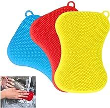 Silicone Sponzen afwasborstel Herbruikbare wassen sponzen decontaminatie Cleaning afwasborstel Kitchen Gadgets zcaqtajro (...