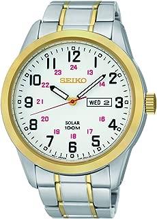 Men's SNE370 Analog Display Japanese Quartz Two Tone Watch