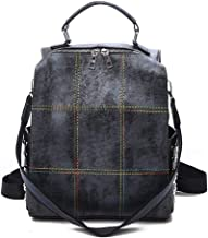 ERNANGUA Large Capacity Backpack Women Colorful Thread School Bags for Teenage Girls Shoulder Bag Rivet Travel Backpack Female (Color : Black, Size : M)