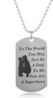 daddy superhero necklace