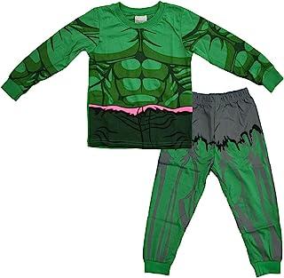 مجموعة منامة N'aix للأولاد الصغار سوبر هيرو ملابس نوم قطنية 2-7T