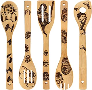 Star War Burned Wooden Spoons Utensil Set Gift Idea Cooking Serving Utensils Natural..