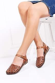 TARÇIN Hakiki Deri Kadın Sandalet Ayakkabı TRC124-1005