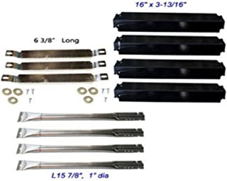 USA Premium Store Charbroil Gas Grill Replacement Crossover Tubes and Burners,Heat Plates