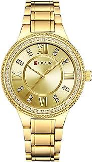 CURREN Original Women's Sports Waterproof Calendar Leather Strap Wrist Watch Black