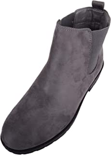 Absolute Footwear Womens Slip On Faux Suede Ankle Chelsea Boots/Shoes/Flats