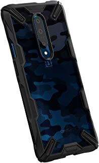 Ringke OnePlus 7 Pro Fusion-X Design Ergonomic Transparent Shock Absorption TPU Bumper Case - Camo Black