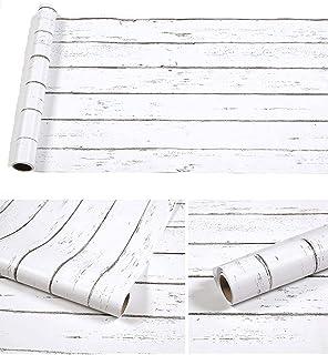 DWIND D1075-3 Wood Self Adhesive Paper Peel and Stick Wallpaper for Bedroom Livingroom