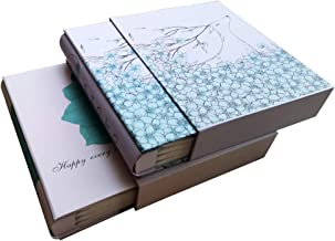 TOTOCAN 4X6 Photo Album Pack of 2, Each Picture Album Holds Up to 200 4x6 Photos, Total 400 Photos,Family - Travel - Baby Photo Album (Flower and Deer)