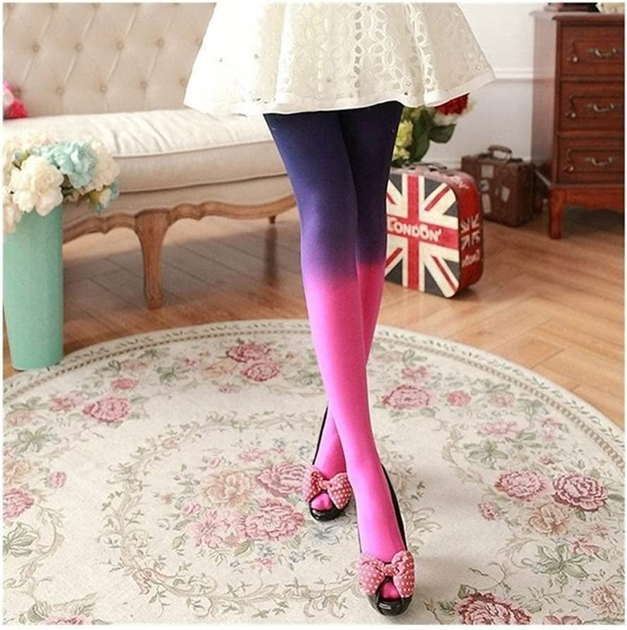 Moonlight Star Autumn and Winter Pantyhose Gradient Pantyhose 120D Women's Candy Color Tights Woman Quality Tights (Color : Style D, Size : One Size)