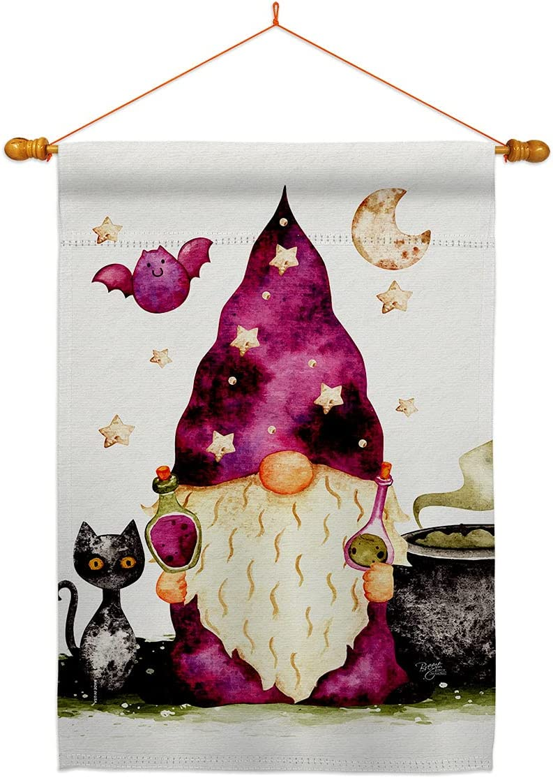 Breeze Decor Poison Gnome House Flag Au In a popularity Set Friends Spring new work Dowel Garden