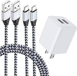 2ポートUSB充電器 USB Type Cケーブル タイプc充電器 急速充電 (2USBポートコンパクト 2.1A高出力) ANNIBER アンドロイド充電器 スマホ充電器ケーブル Android AC 充電器 Type-C USB電源アダプタ...